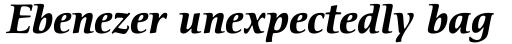 ITC Cerigo Bold Italic sample