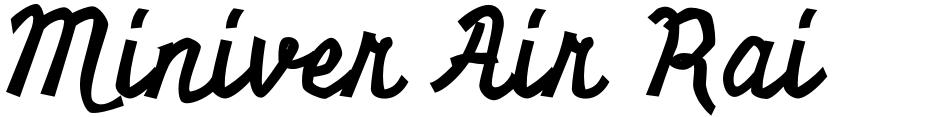 Click to view  Miniver Air Raid Pro font, character set and sample text