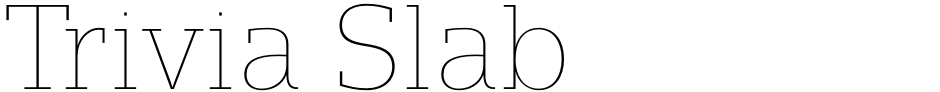 Click to view  Trivia Slab font, character set and sample text