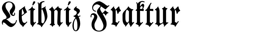 Click to view  Leibniz Fraktur font, character set and sample text