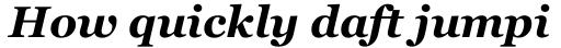 Georgia Pro Bold Italic sample
