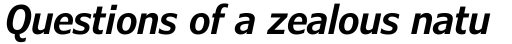 Verdana Pro Condensed SemiBold Italic sample