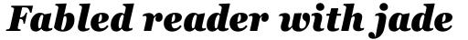 Georgia Pro Condensed Black Italic sample