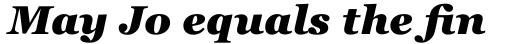 Georgia Pro Black Italic sample
