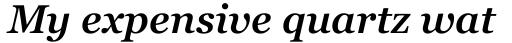 Georgia Pro SemiBold Italic sample