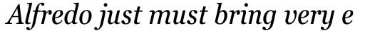 Georgia Pro Condensed Italic sample