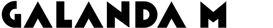 Click to view  Galanda Moderna font, character set and sample text