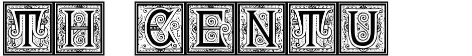 Click to view  19th Century American Initials font, character set and sample text
