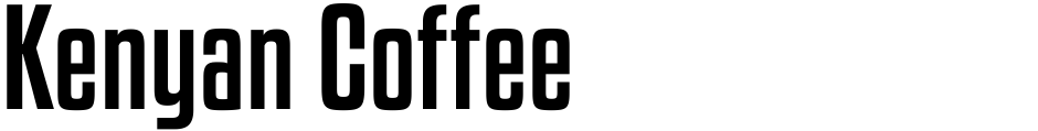 Click to view  Kenyan Coffee font, character set and sample text