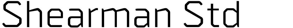 Click to view  Shearman Std font, character set and sample text