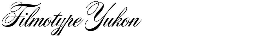 Click to view  Filmotype Yukon font, character set and sample text