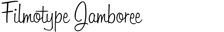 Click to view  Filmotype Jamboree font, character set and sample text
