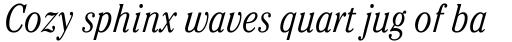 ITC Cheltenham Condensed Light Italic sample