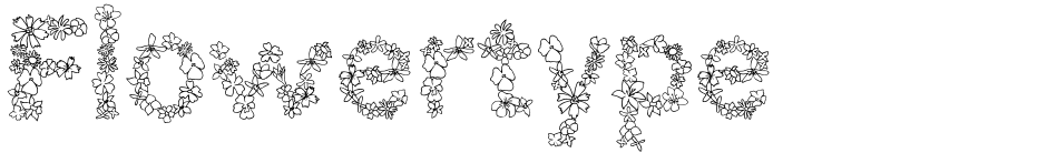 Click to view  Flowertype font, character set and sample text