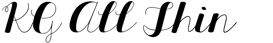 Click to view  KG All Things New font, character set and sample text