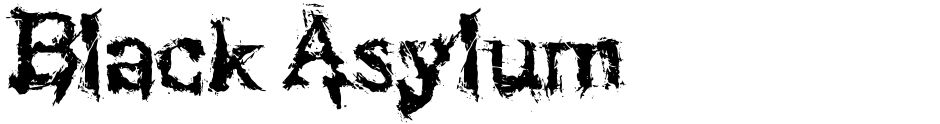 Click to view  Black Asylum font, character set and sample text