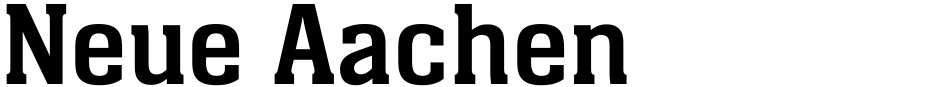 Click to view  Neue Aachen font, character set and sample text