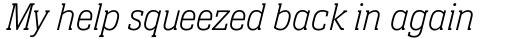 Neue Aachen Pro Thin Italic sample