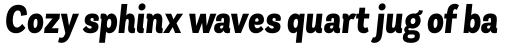Andes Condensed ExtraBold Italic sample