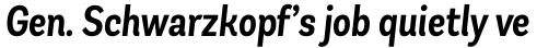 Andes Condensed SemiBold Italic sample