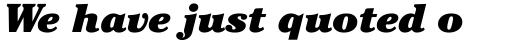 ITC Cheltenham Ultra Italic sample