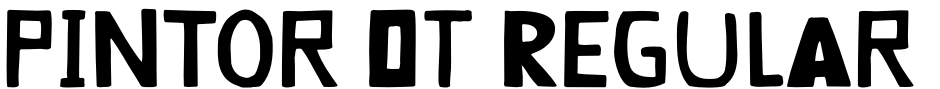Click to view  Pintor OT Regular font, character set and sample text