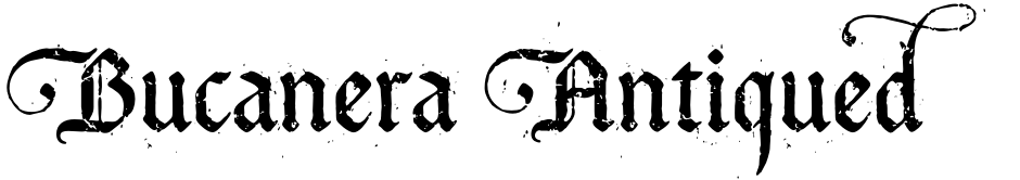 Click to view  Bucanera Antiqued font, character set and sample text