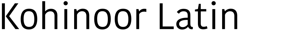 Click to view  Kohinoor Latin font, character set and sample text