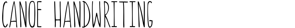 Click to view  Canoe Handwriting font, character set and sample text