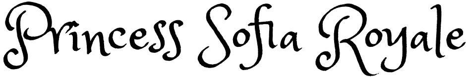 Click to view  Princess Sofia Royale font, character set and sample text