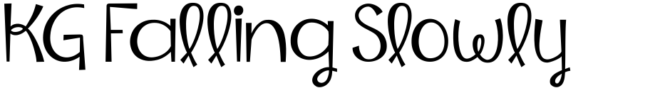 Click to view  KG Falling Slowly font, character set and sample text