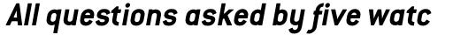 ITC Conduit Bold Italic sample