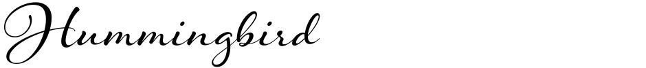 Click to view  Hummingbird font, character set and sample text