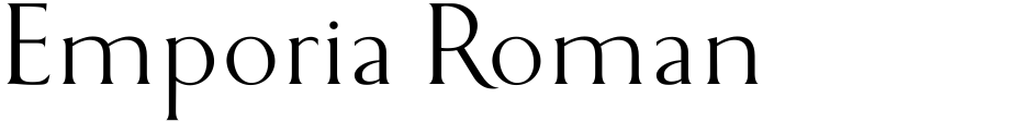 Click to view  Emporia Roman font, character set and sample text