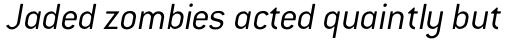 ITC Conduit Light Italic sample