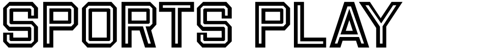 Click to view  Sports Play JNL font, character set and sample text