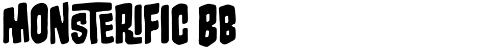 Click to view  Monsterific BB font, character set and sample text