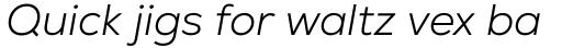 Nexa Light Italic sample