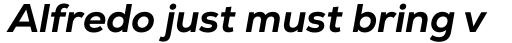 Nexa ExtraBold Italic sample