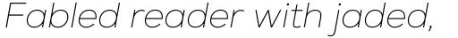 Nexa Thin Italic sample