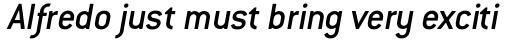 ITC Conduit Medium Italic sample