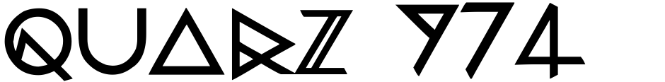 Click to view  Quarz 974 font, character set and sample text