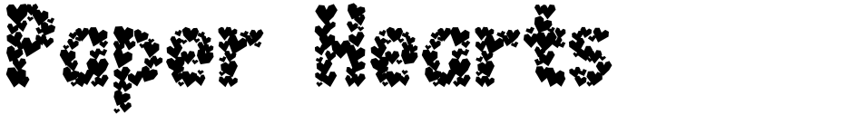 Click to view  Paper Hearts font, character set and sample text