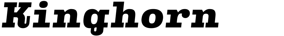 Click to view  Kinghorn 205 font, character set and sample text