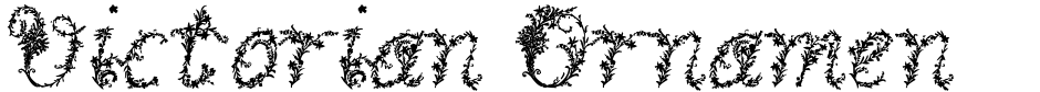 Click to view  Victorian Ornamentals font, character set and sample text