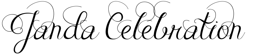 Click to view  Janda Celebration Script font, character set and sample text