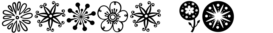 Click to view  Janda Flower Doodles font, character set and sample text
