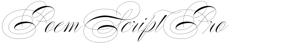 Click to view  Poem Script Pro font, character set and sample text