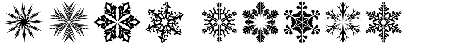 Click to view  Snow Crystals 2 font, character set and sample text