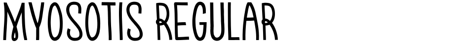 Click to view  Myosotis Regular font, character set and sample text